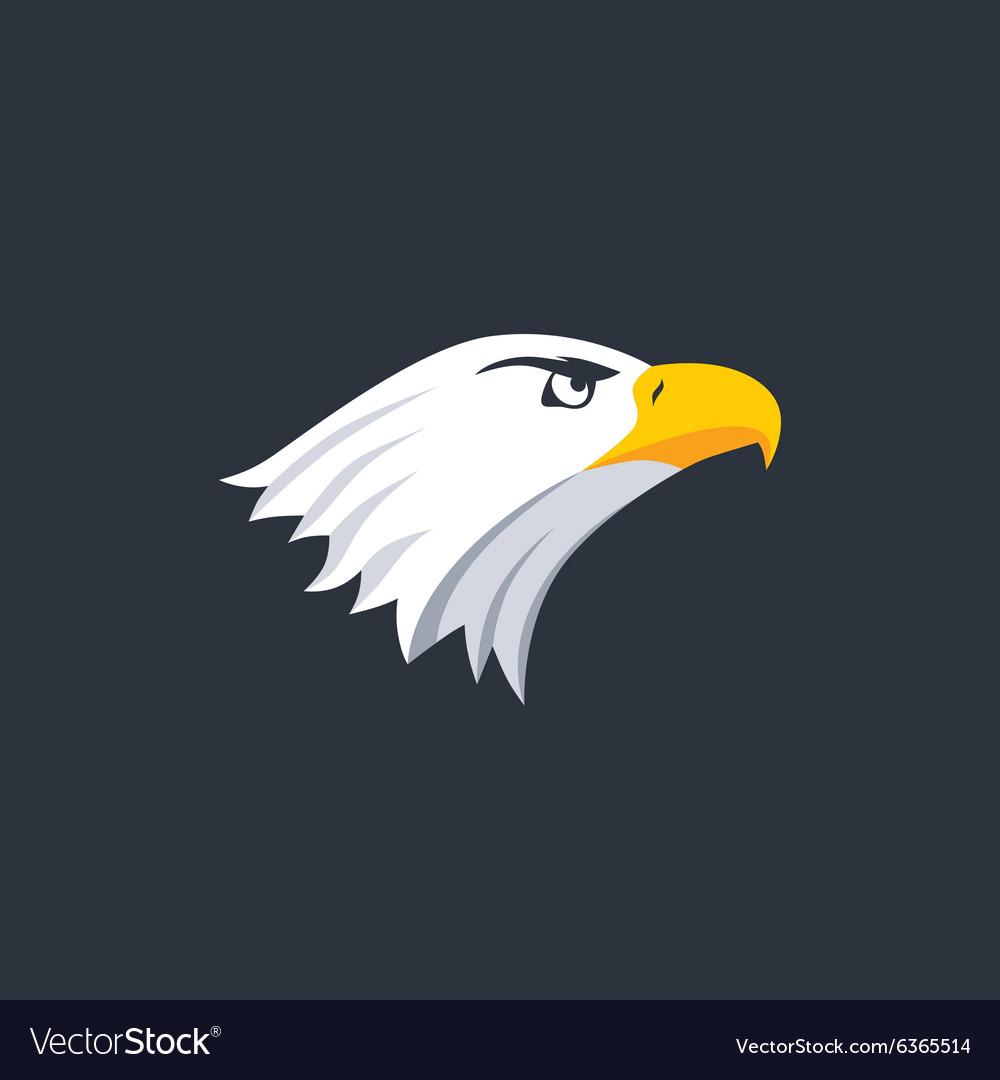 bold eagle template royalty free vector image vectorstock