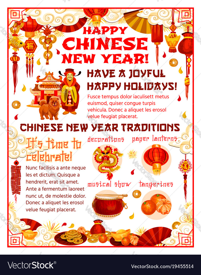 chinese new year poster of spring festival holiday chinese new years holiday - Chinese New Year Holiday