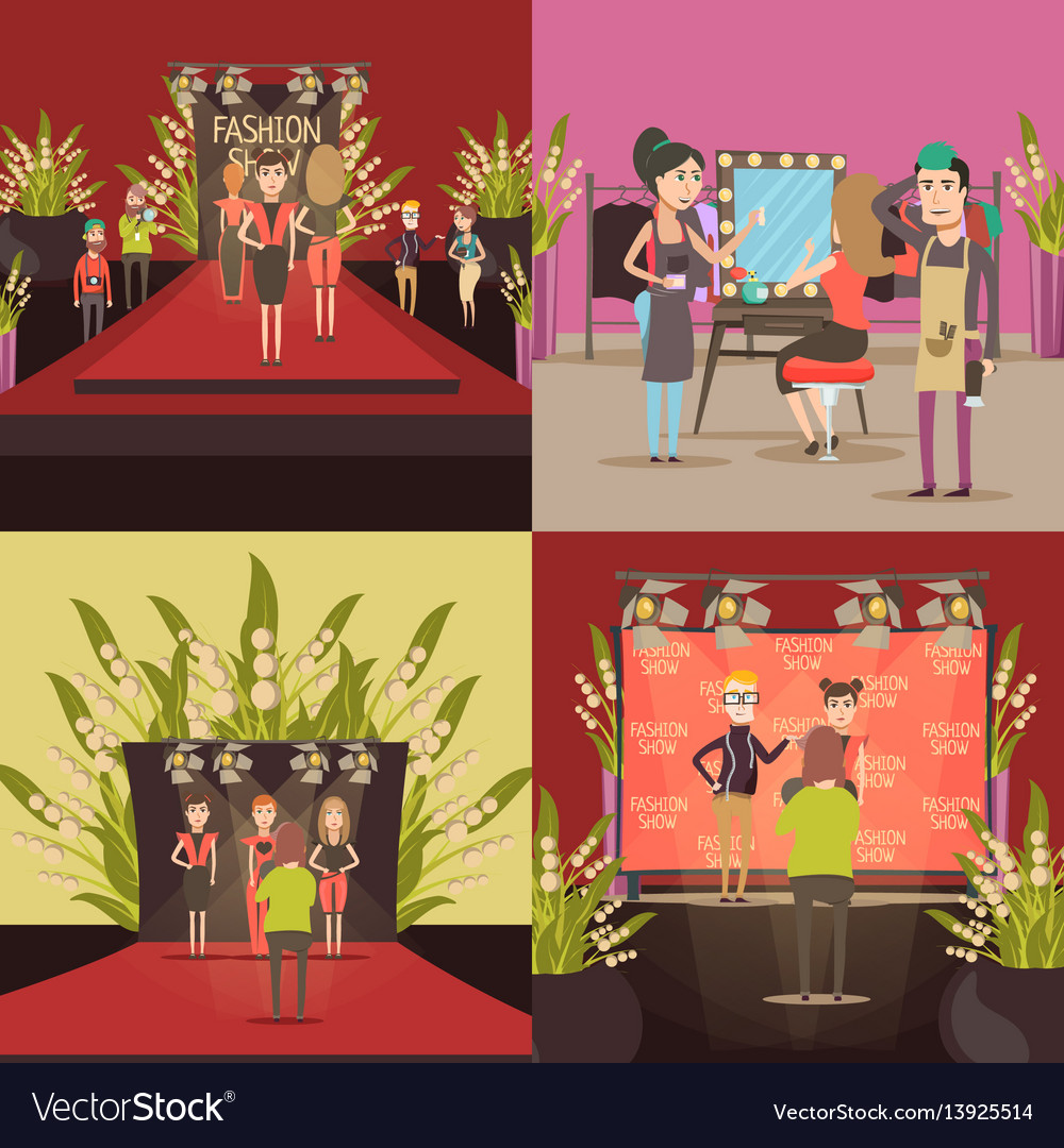 Fashion show design concept vector image