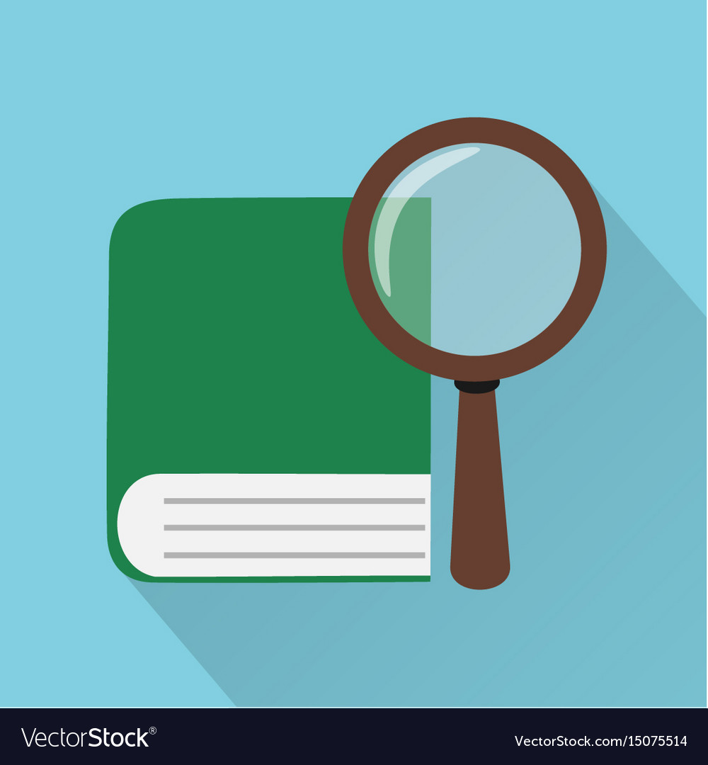Flat design style modern book vector image