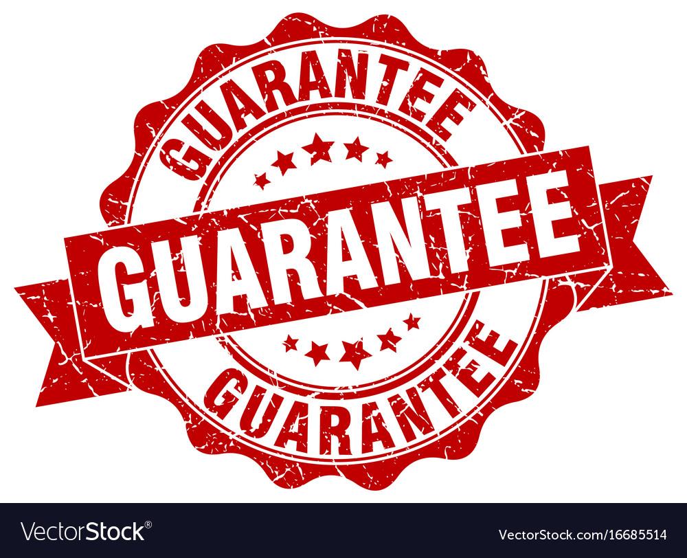 Guarantee stamp sign seal vector image