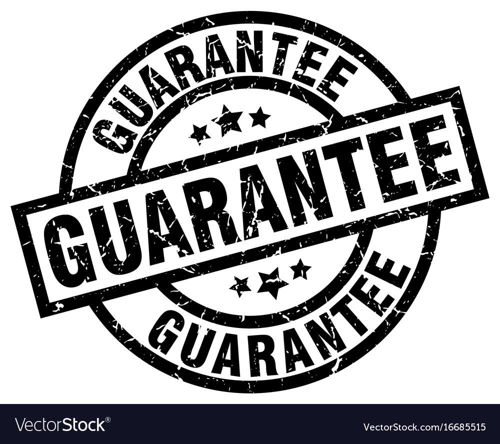 Guarantee round grunge black stamp vector image
