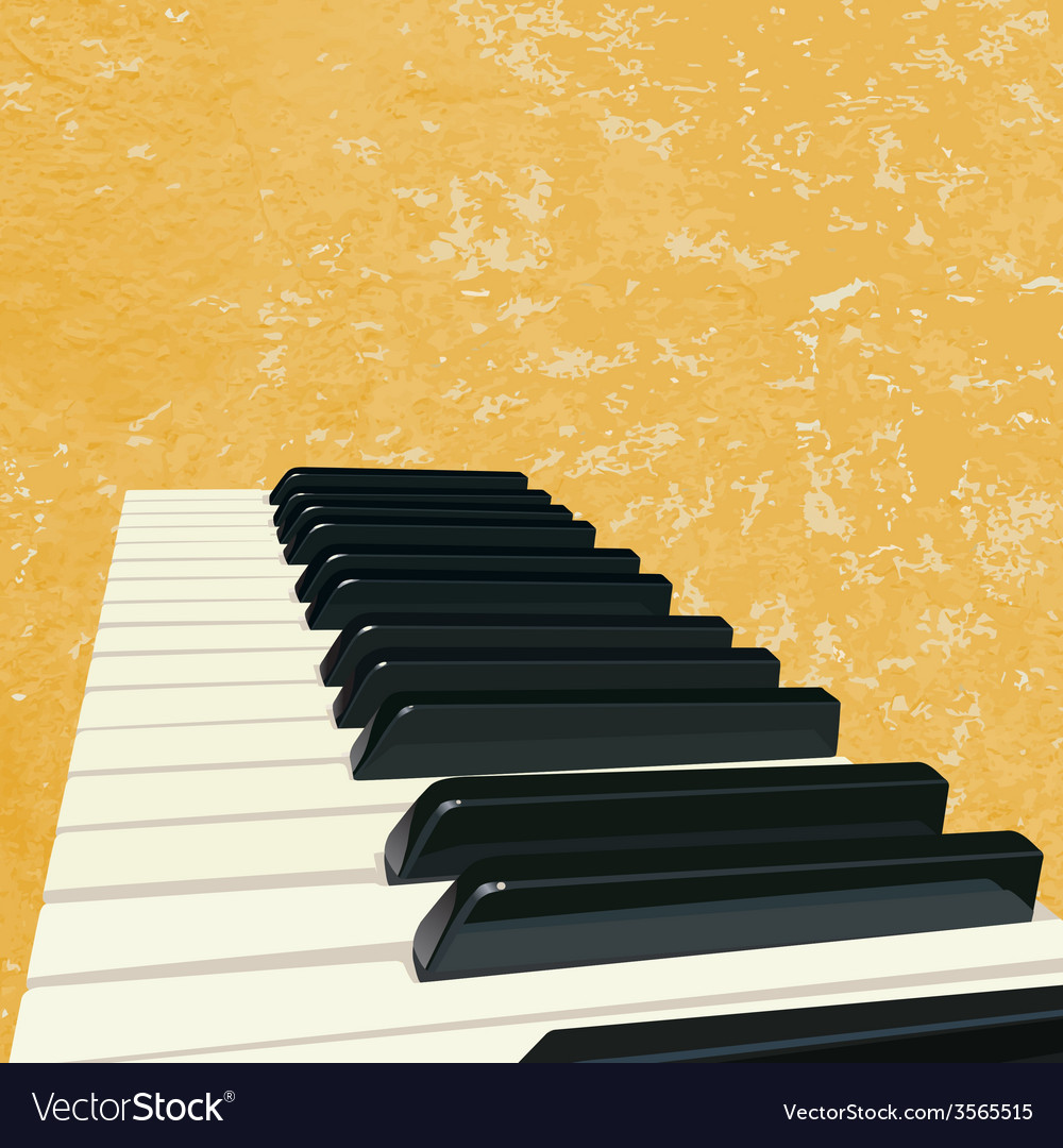 Vintage piano background vector image