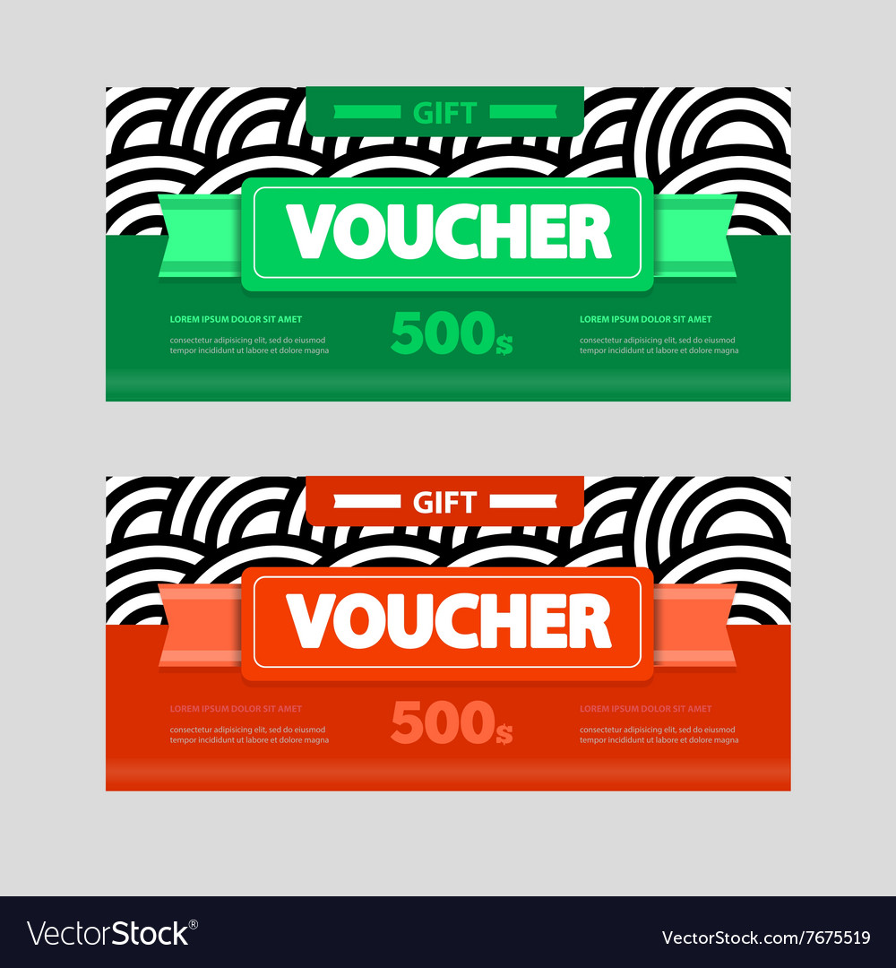 two coupon voucher design gift voucher template vector image by two coupon voucher design gift voucher template vector image