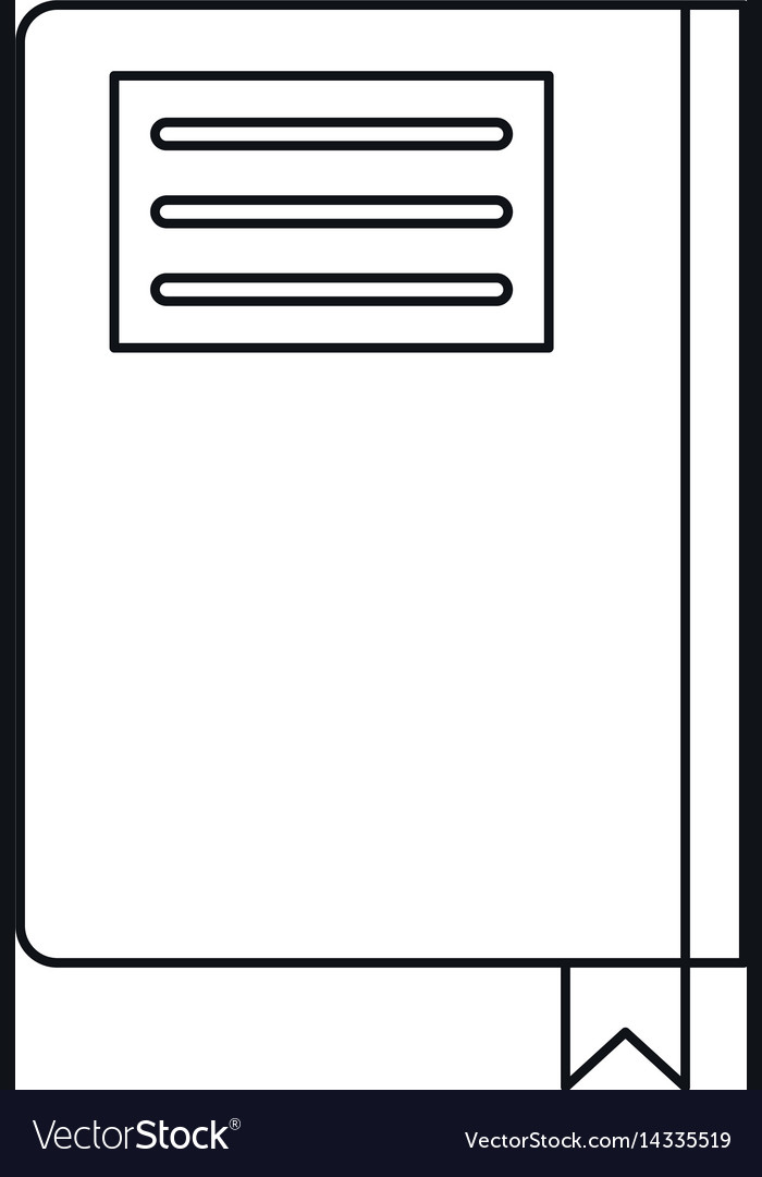 Book diary directory office outline vector image