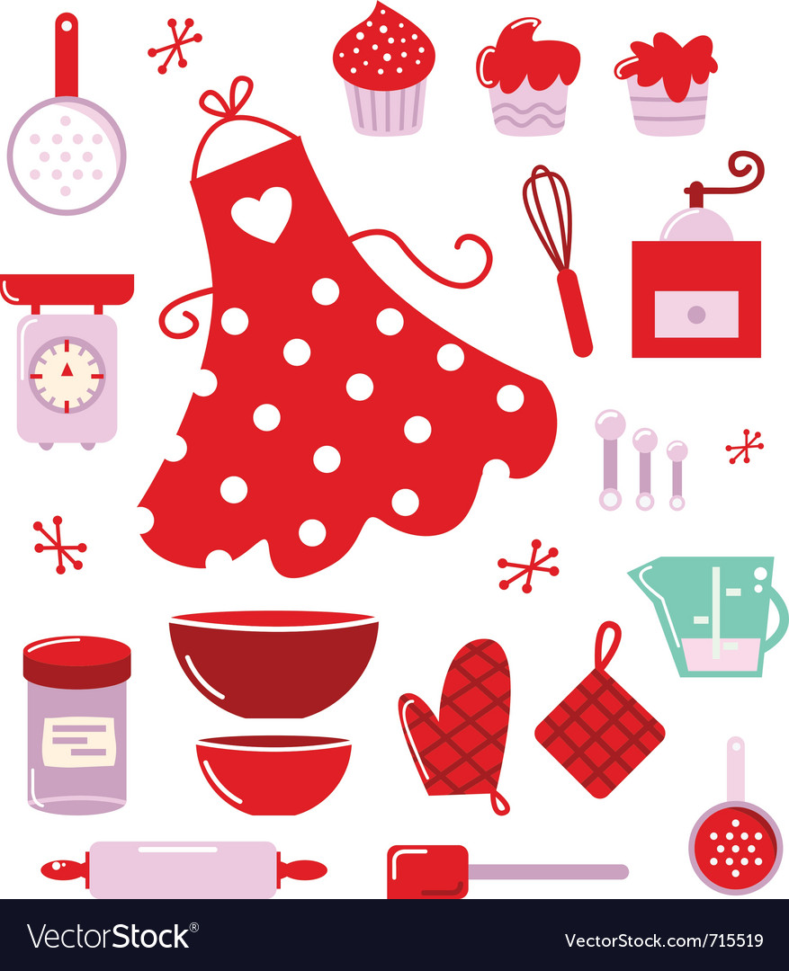 Housewife icons vector image