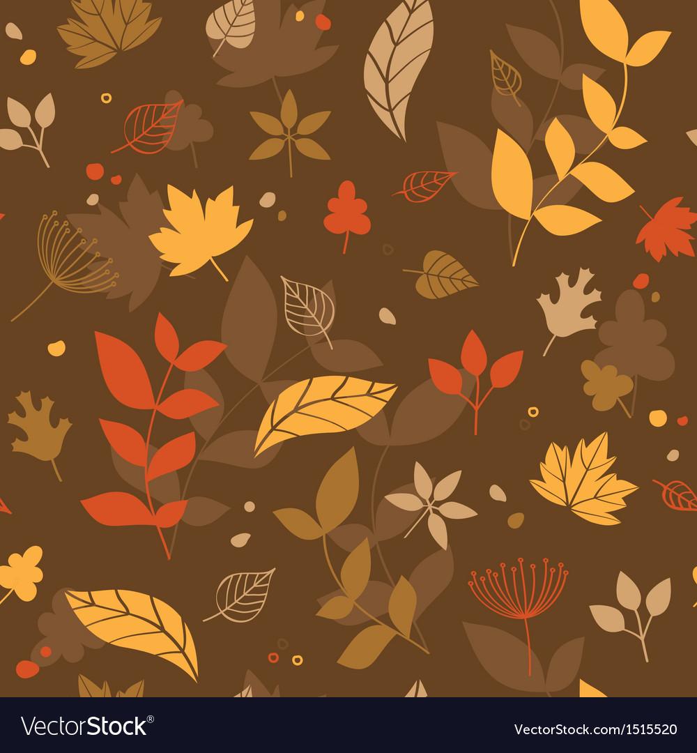 Autumn seamless vector image