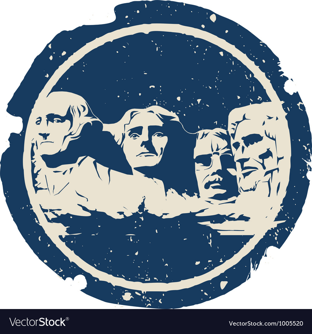 Mount Rushmore vector image