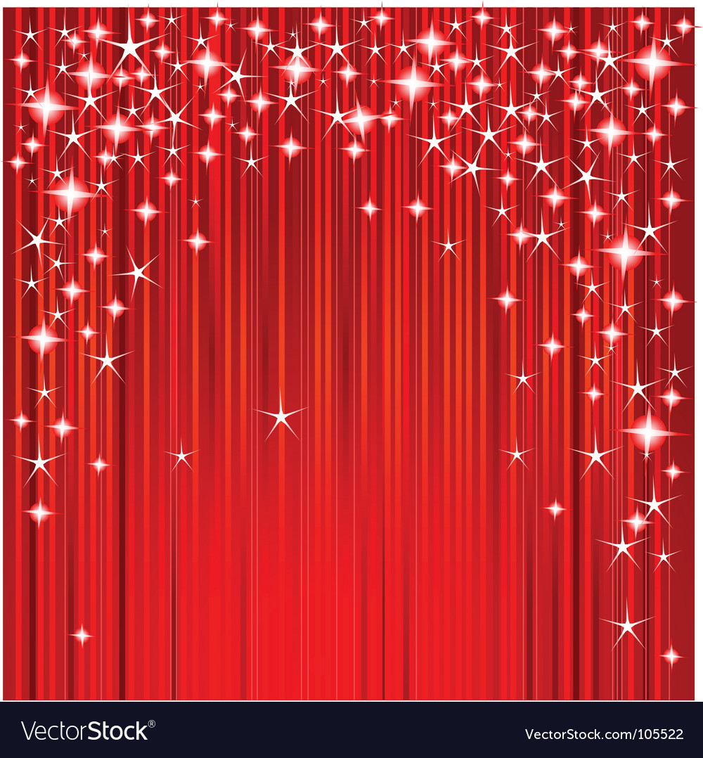 Christmas stars and stripes vector image