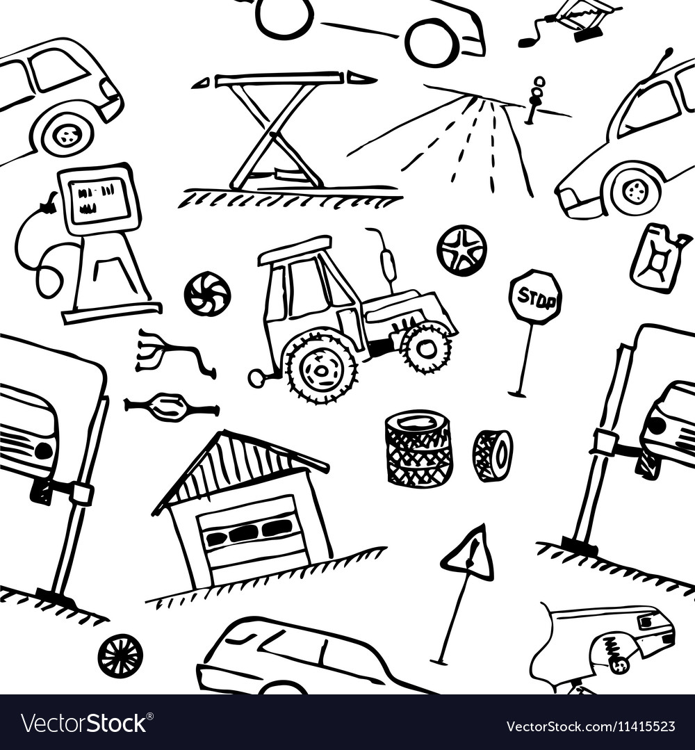 Automotive themes Repair vehicle Seamless vector image