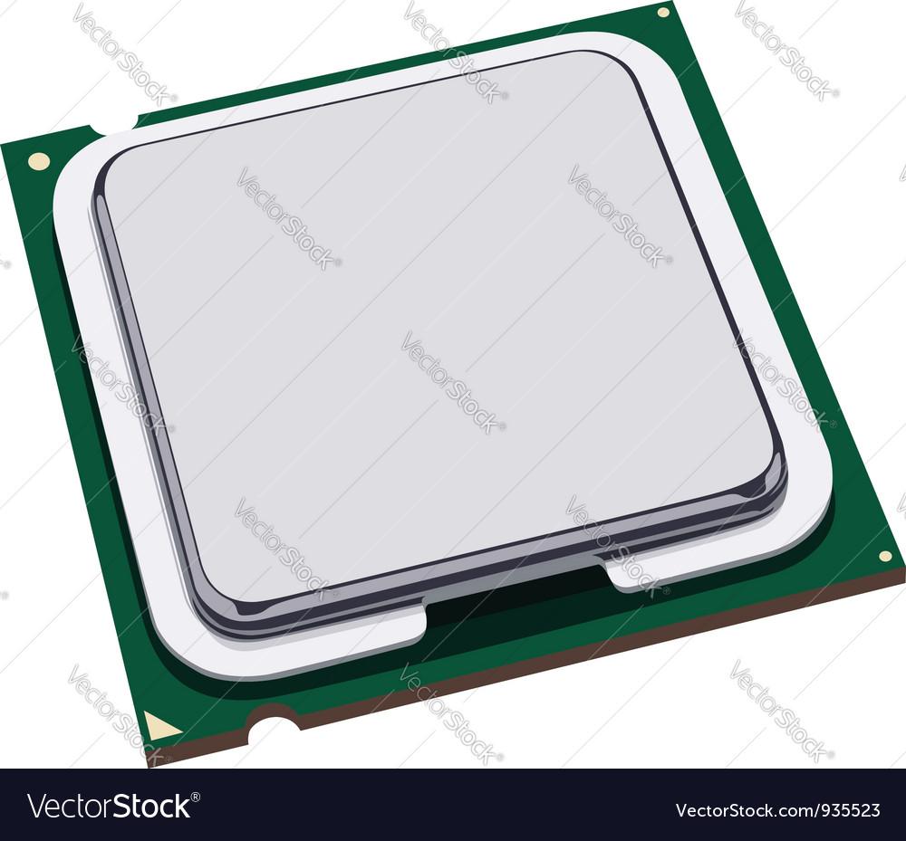 Computer processor vector image