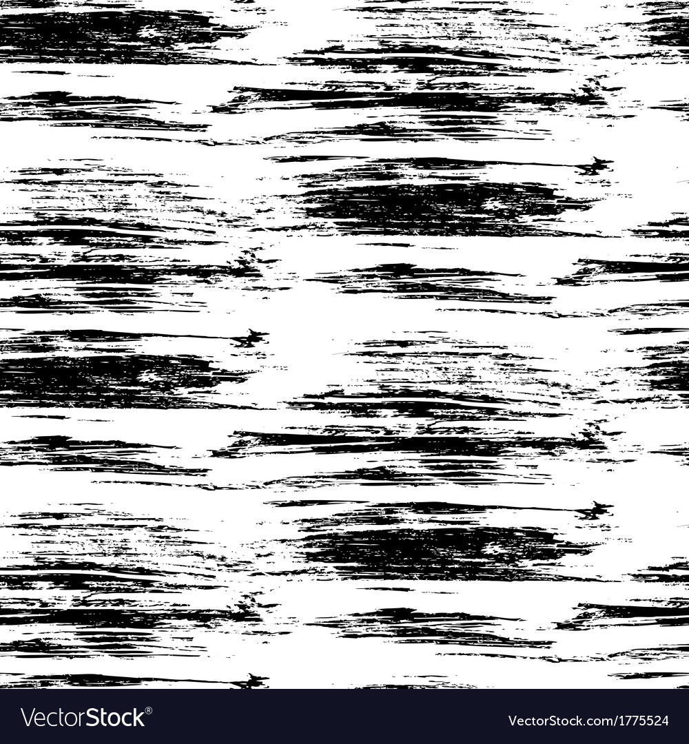 Hand drawn linear pattern with brushed lines vector image