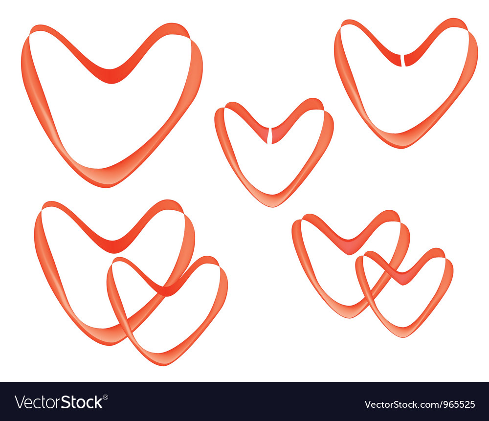 Valentines made of ribbon vector image