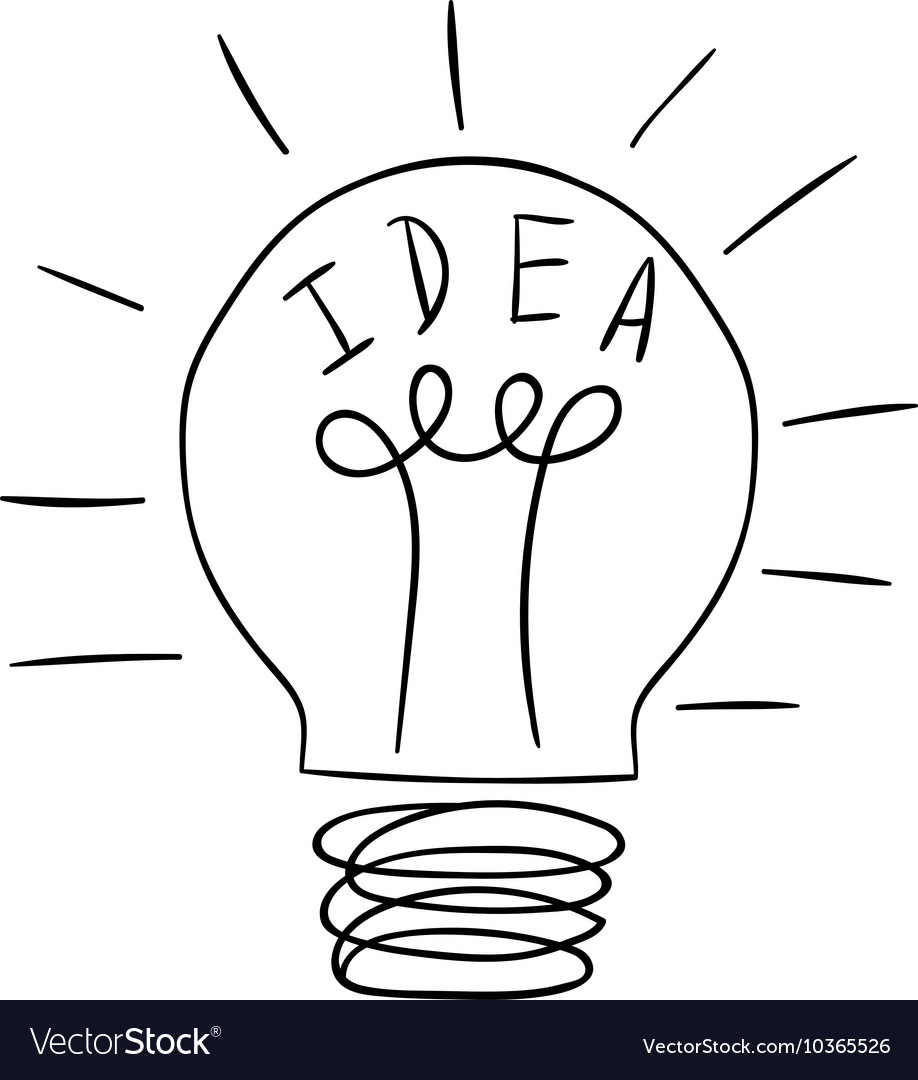Idea lamp icon vector image