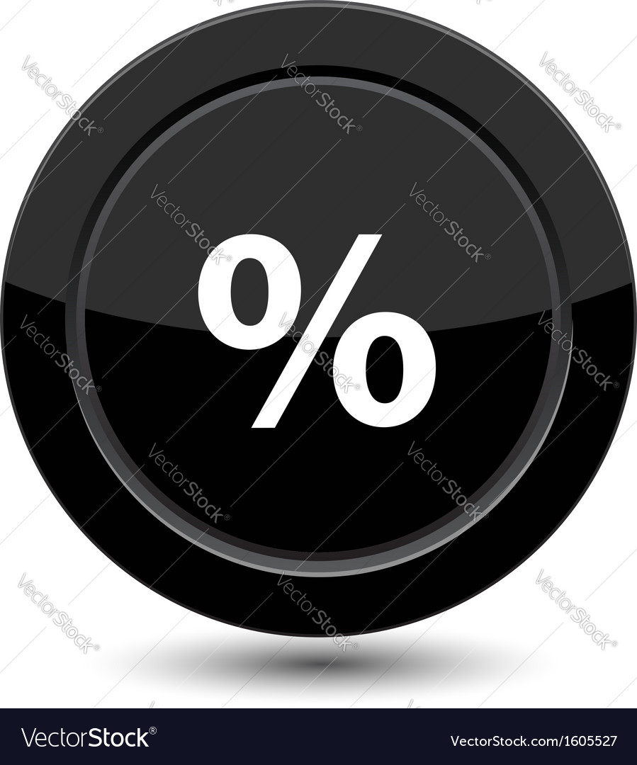 Button with percent vector image