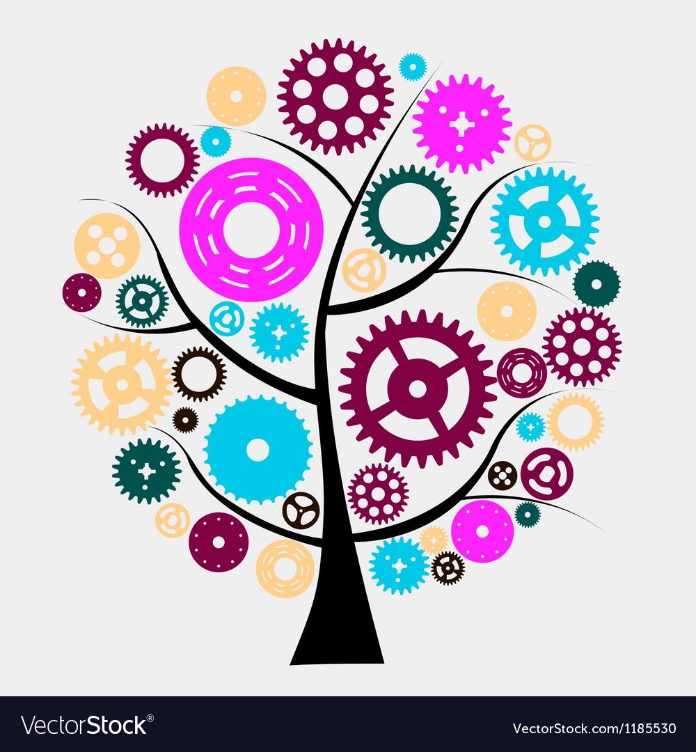 Machine Gear Wheel Cogwheel vector image