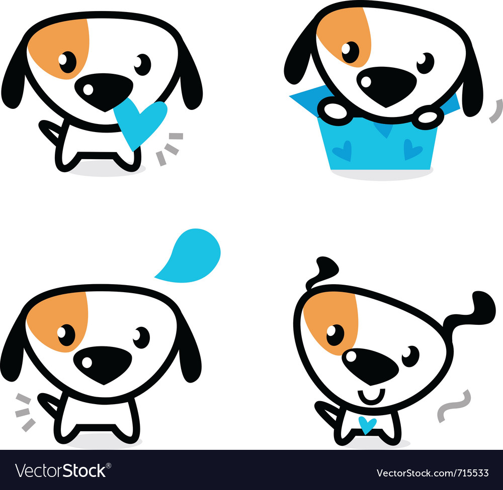 Valentine dogs vector image