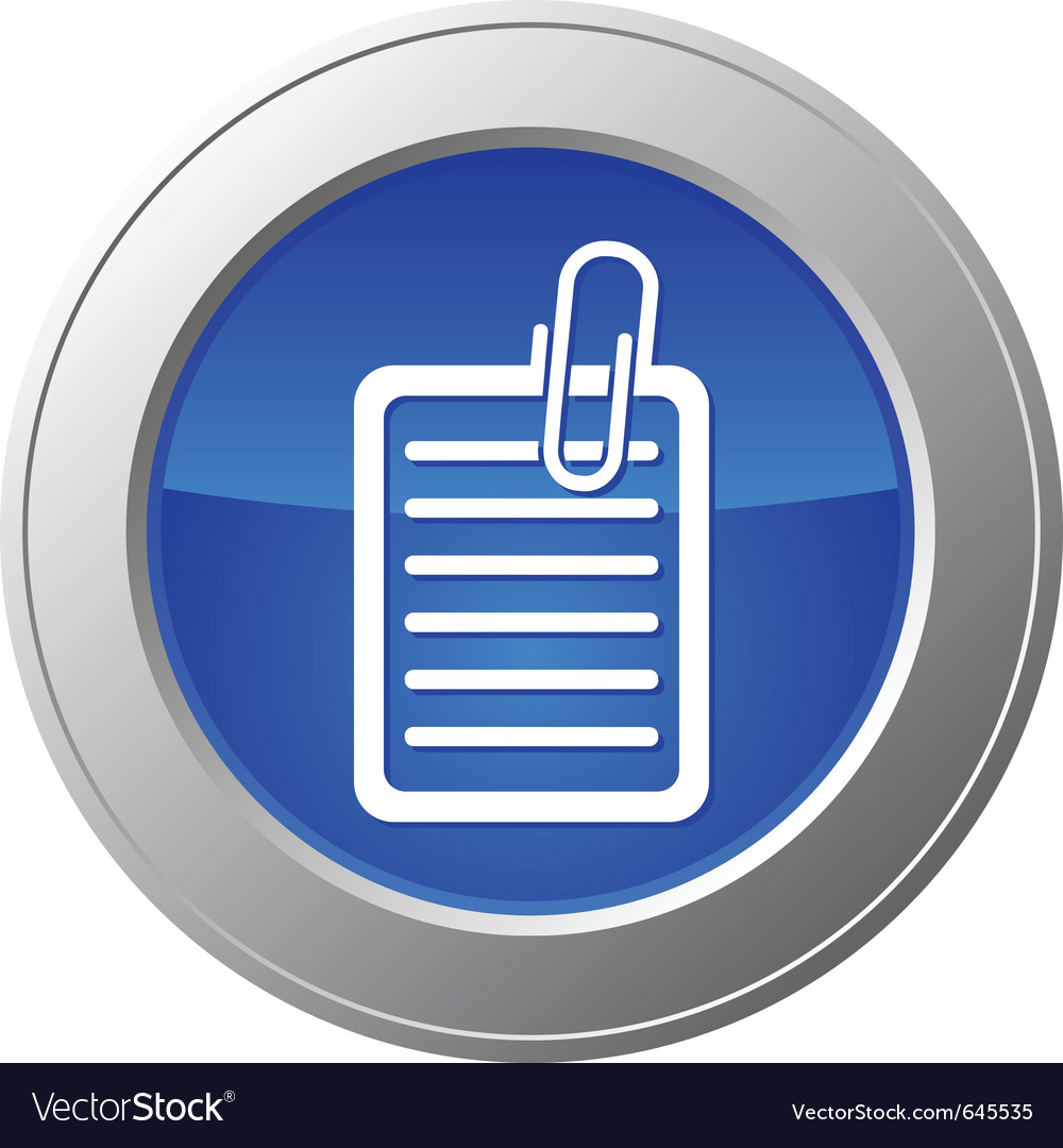 Document button vector image