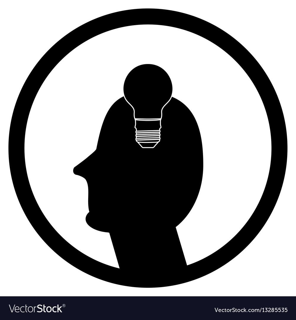 Idea in human head vector image