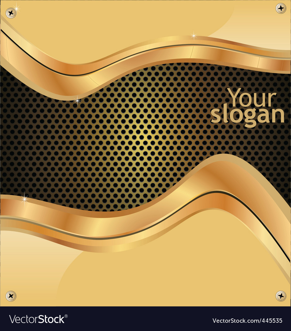 Metal grill gold background vector image