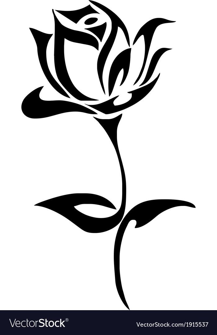 Tribal Rose vector image