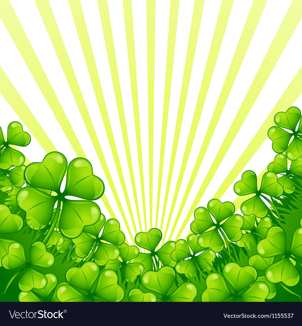 Greeting card for Saint Patricks day vector image