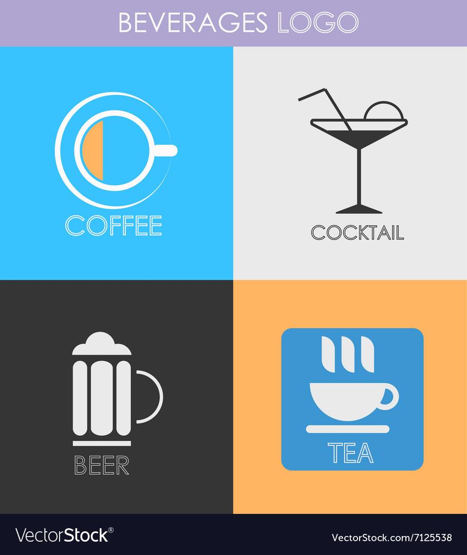 Alcoholic beverage icons Patterns logo vector image