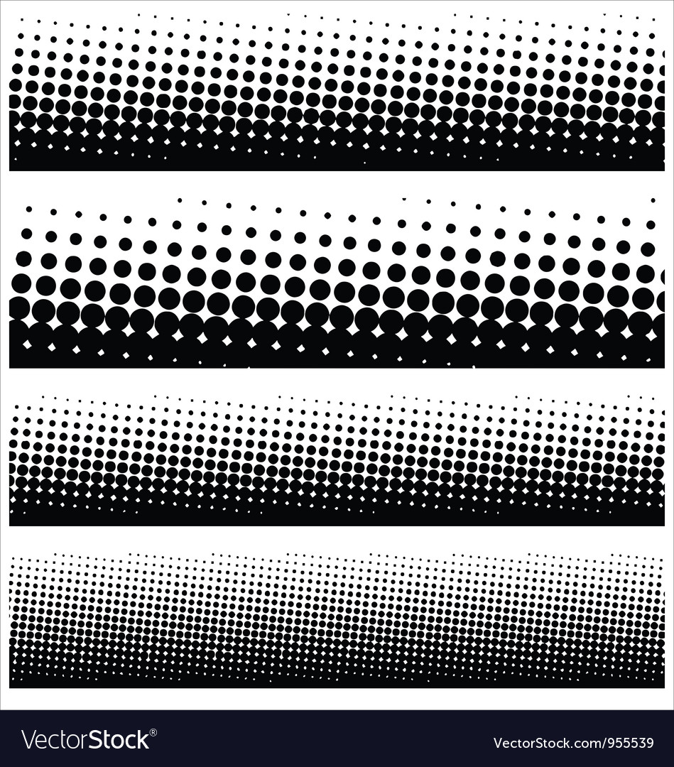 Halftone elements for your design vector image
