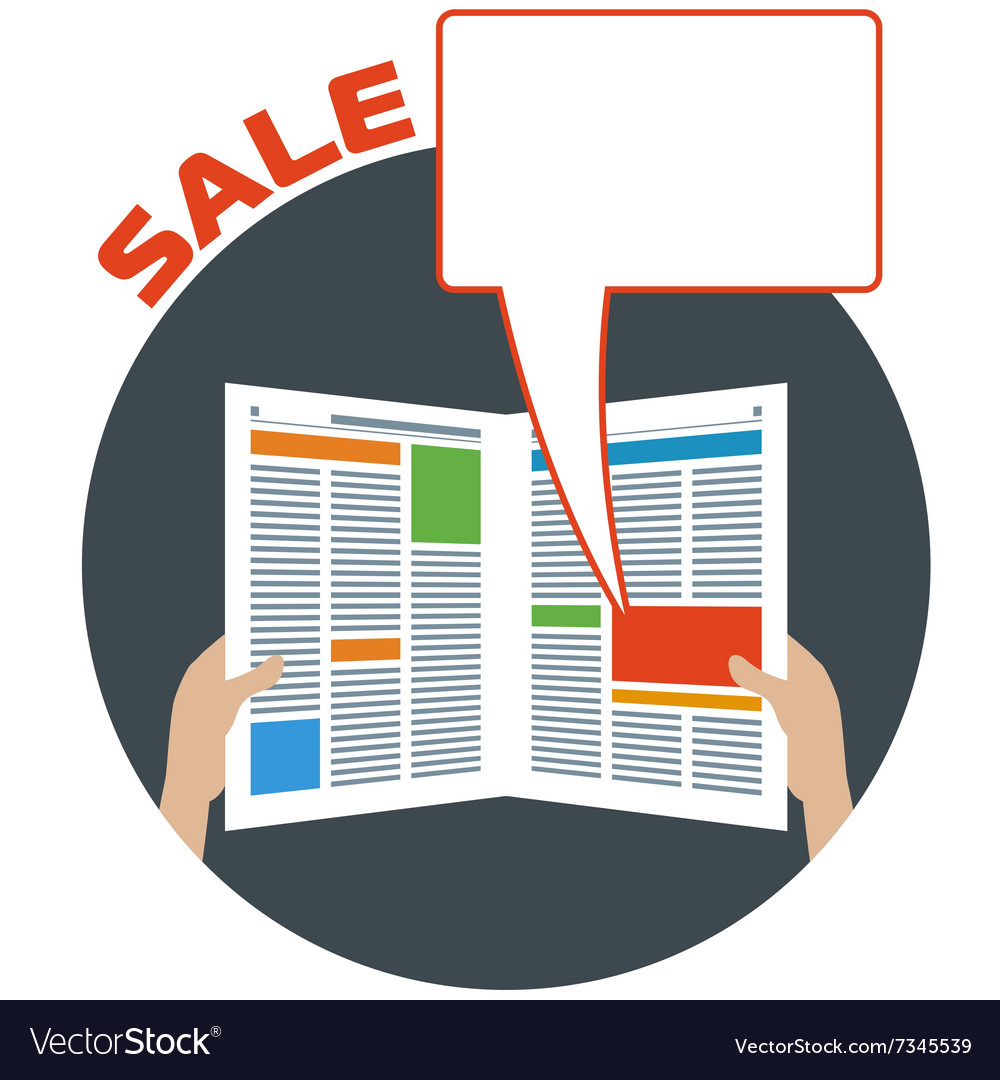 Advertising in the newspaper vector image