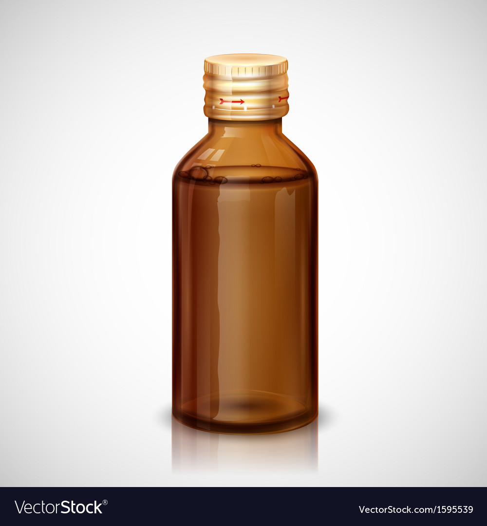 Medicine Syrup Bottle vector image