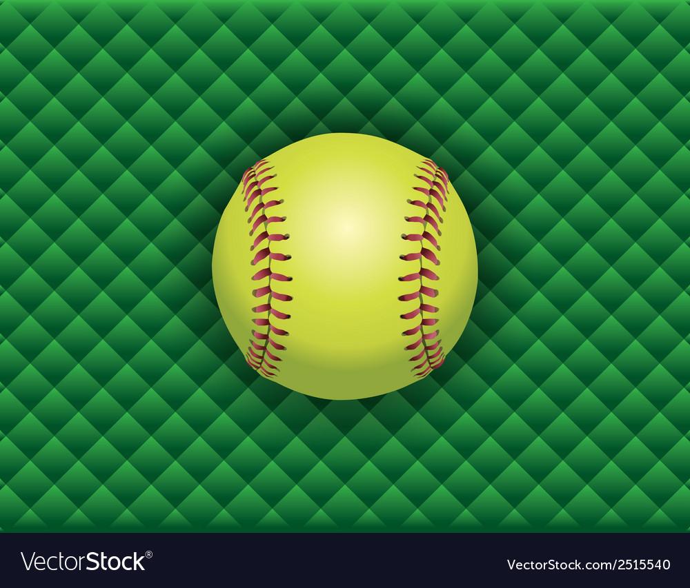 Softball checkered background vector image