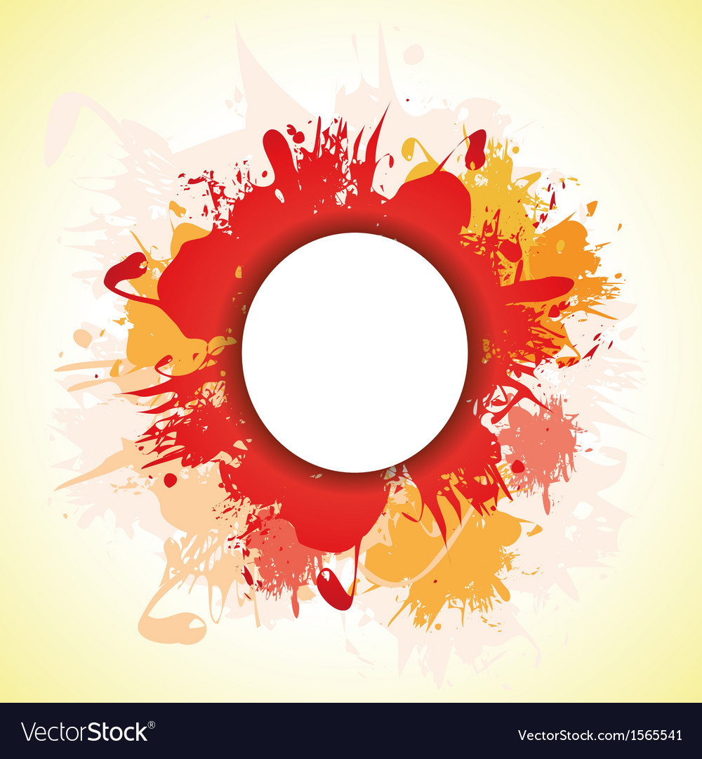 Red splash vector image