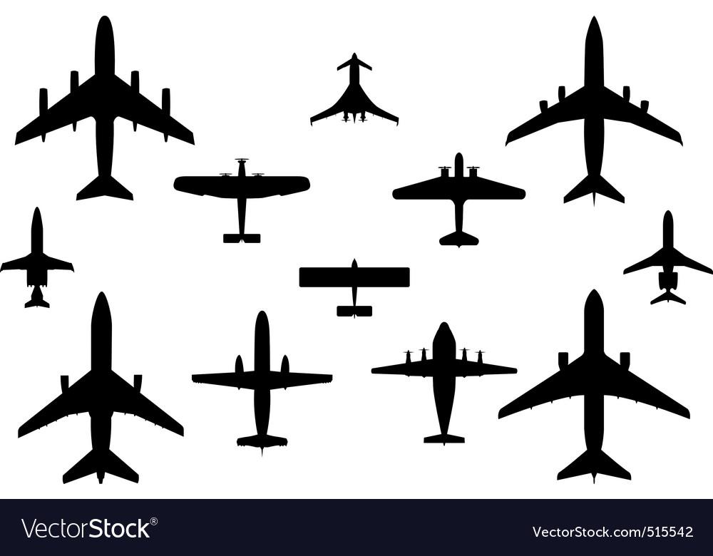 12 vector airplanes vector image