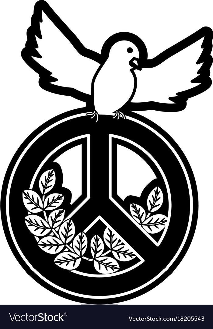 Peace dove with peace symbol royalty free vector image peace dove with peace symbol vector image biocorpaavc