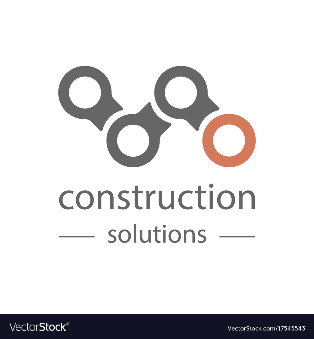 Technological theme logo building firm and vector image