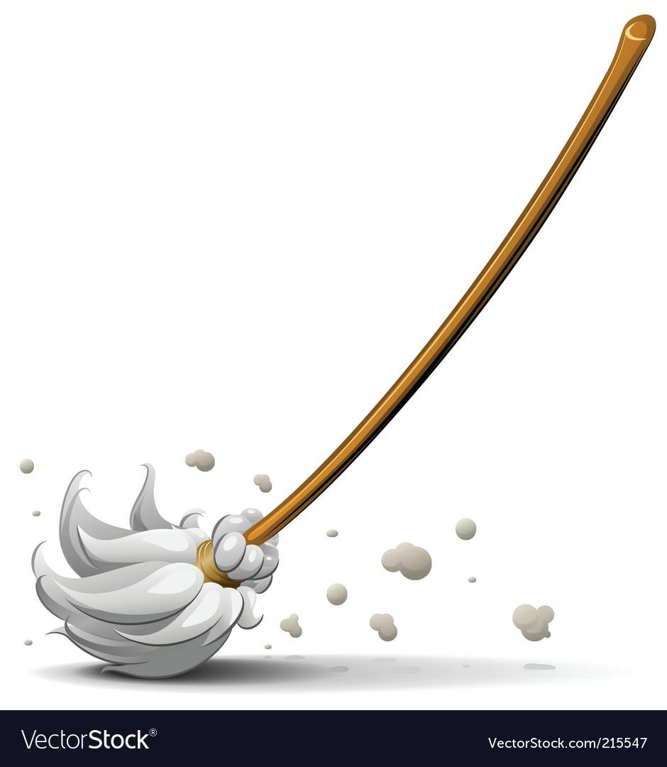 Broom sweep floor vector image