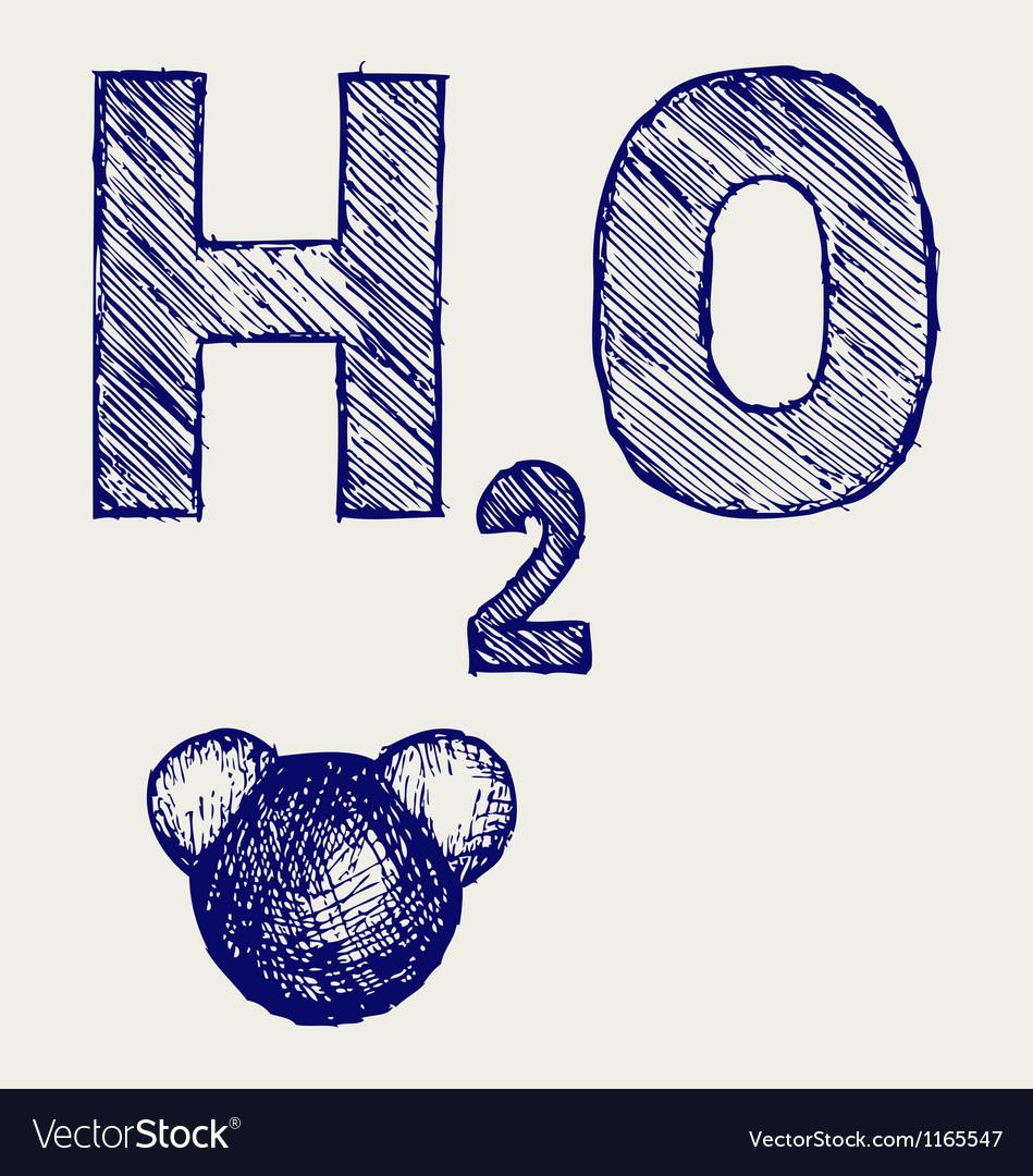 H2O vector image