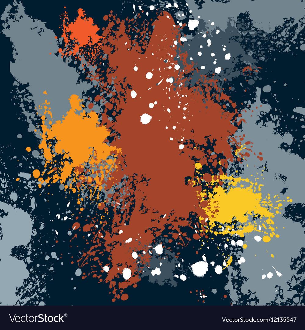 Sketch colored blots ink stains vector image