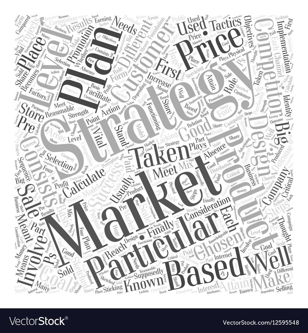 Marketing Strategies Word Cloud Concept vector image