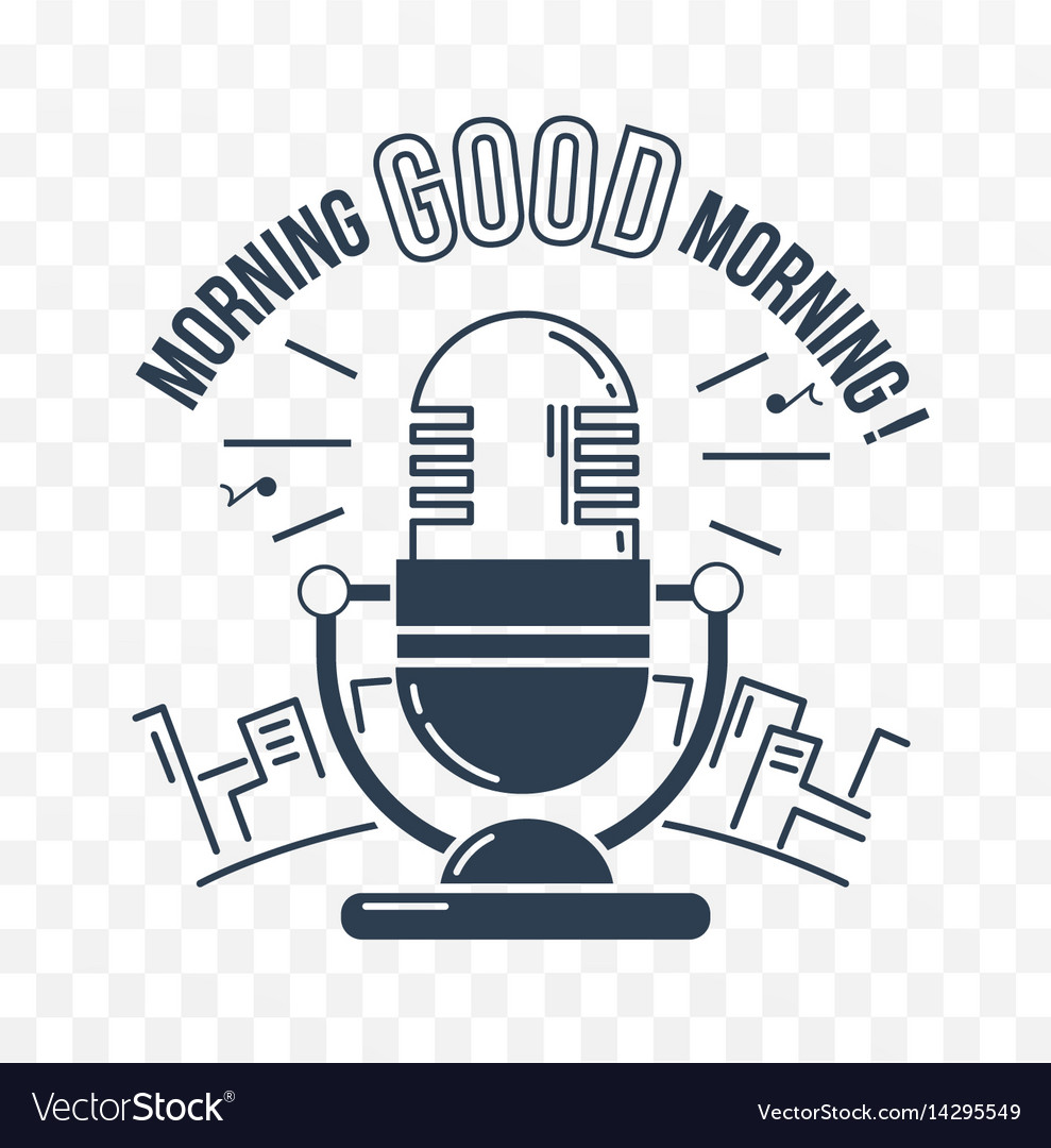 Black and white good morning vector image
