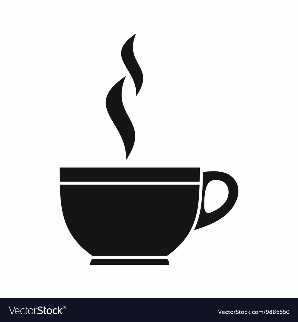 Glass cup of tea icon simple style vector image