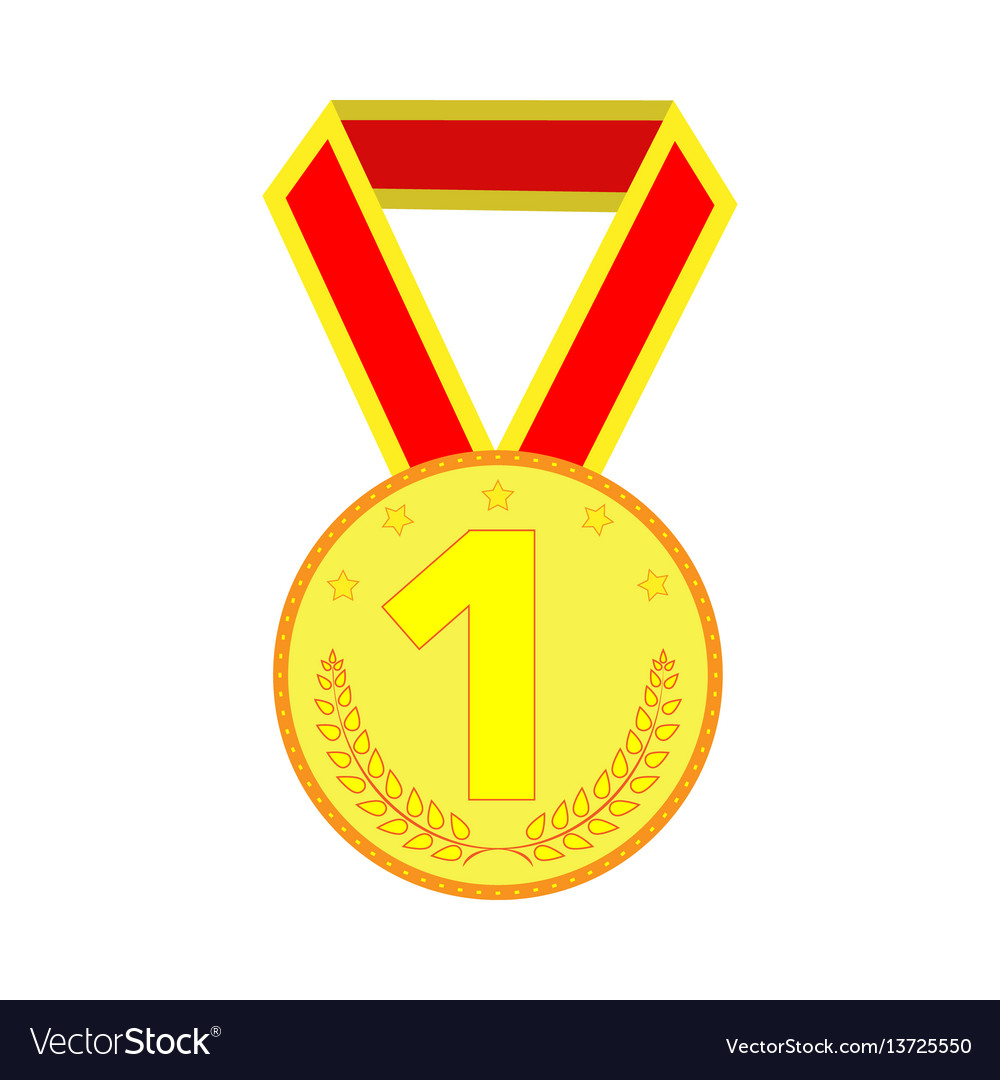 Gold medal sign 2003 vector image