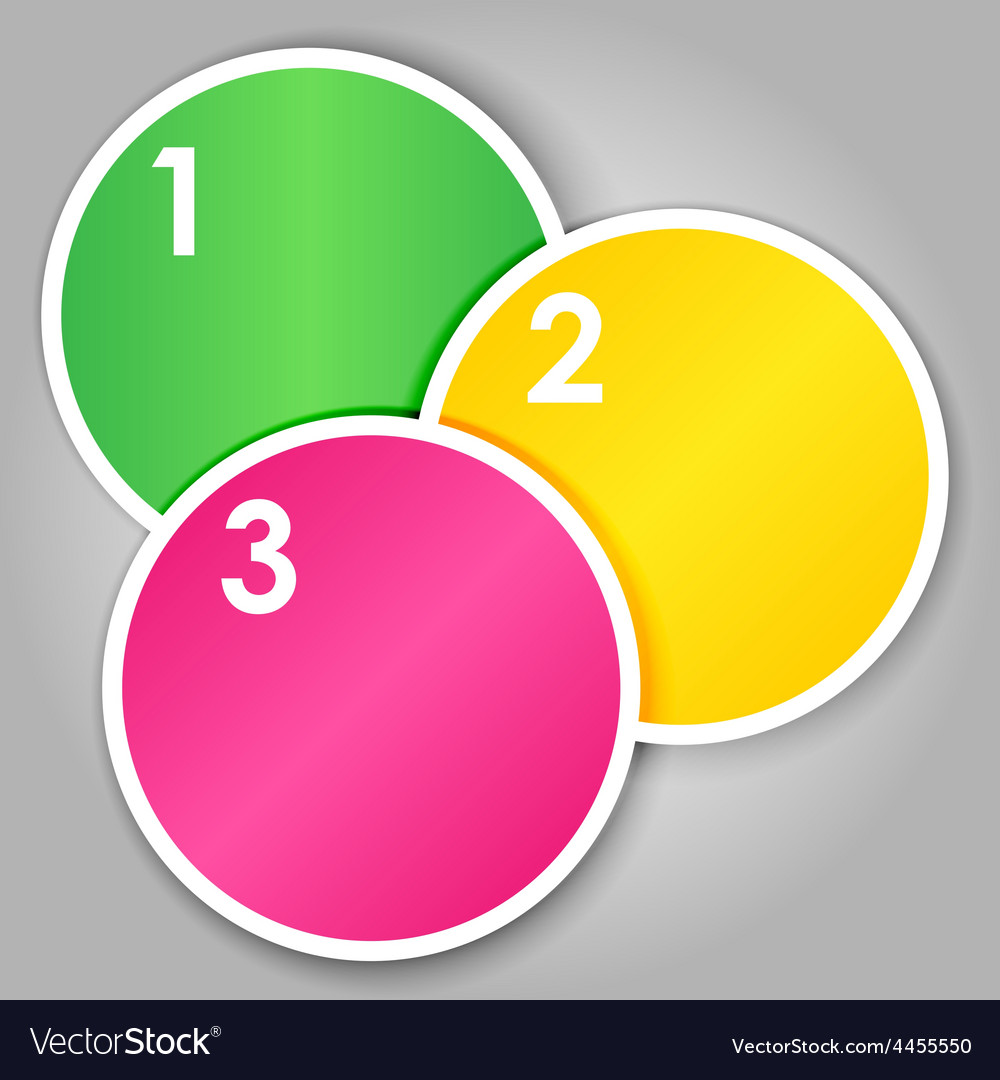Set 2 of numbered round stickers vector image