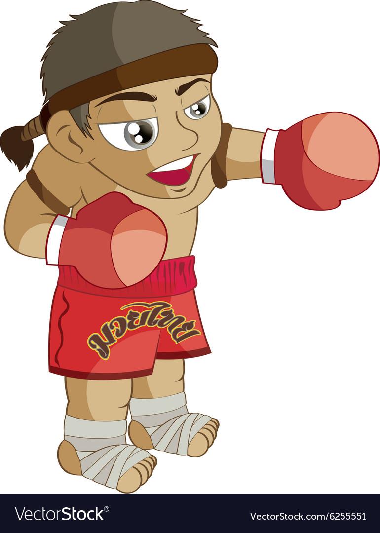 MuayThai Cartoon vector image