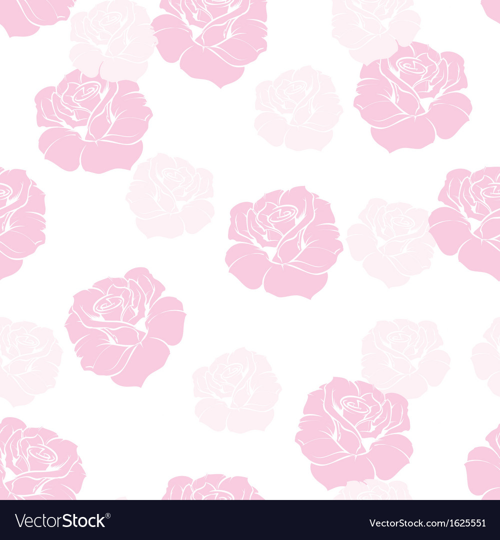 Seamless floral pattern with sweet pink roses vector image
