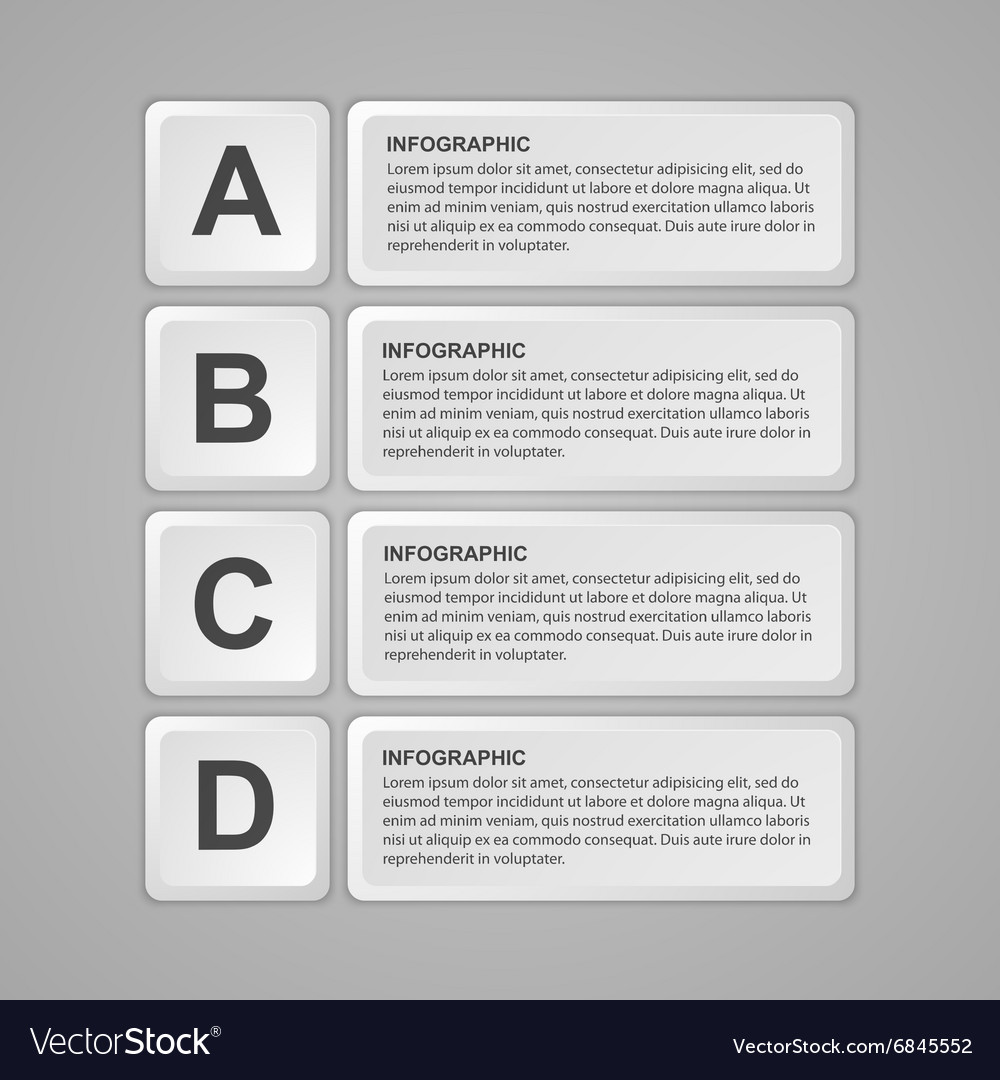 Abstract keyboard buttons infographic Design vector image