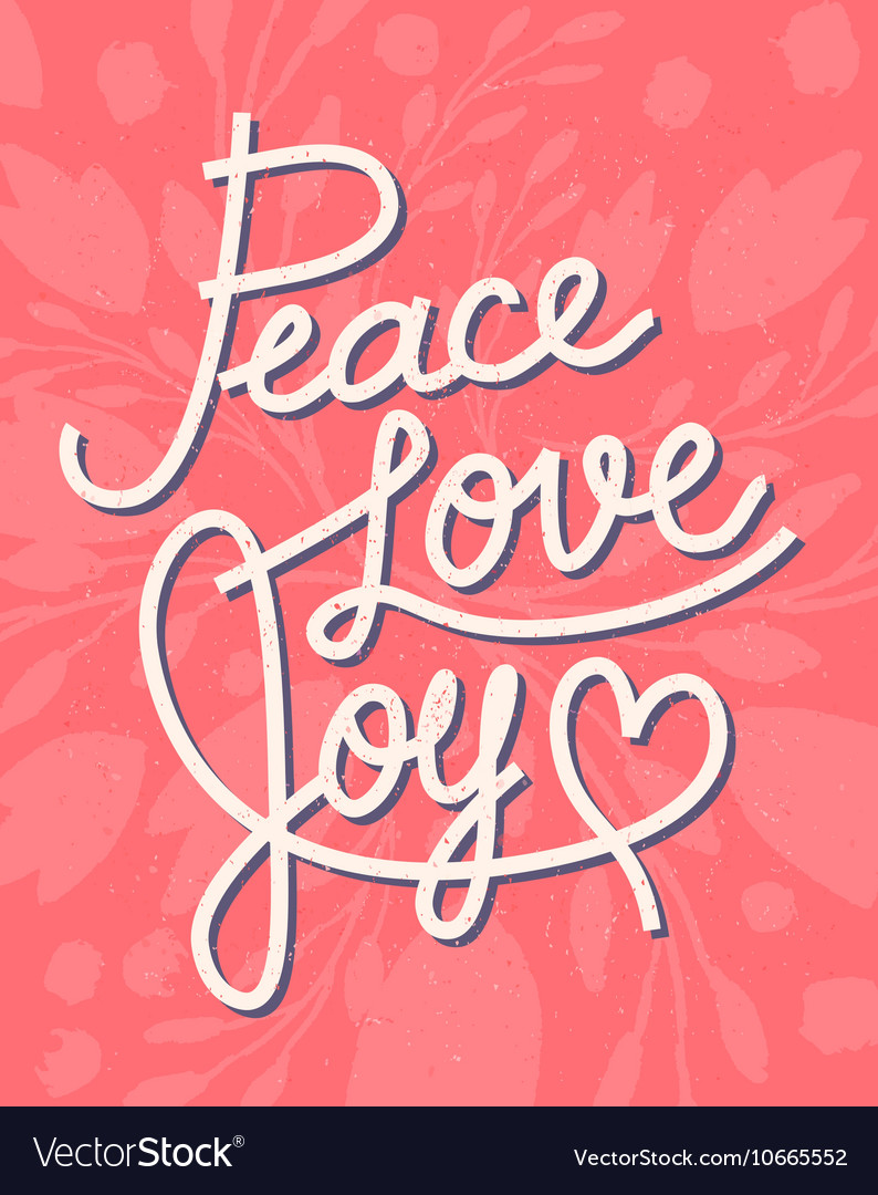 Peace Love Joy Quotes Peace Love Joy Christmas Lettering Quote Vector Image