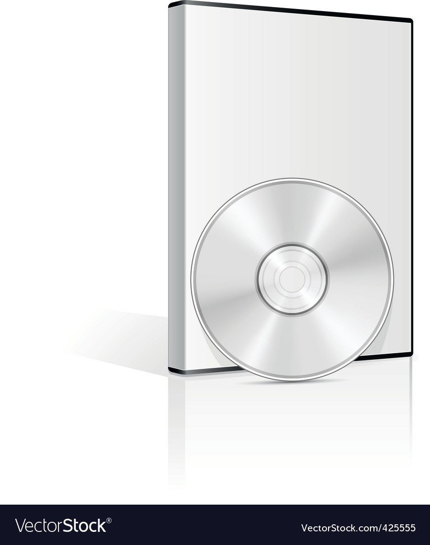 Dvd case vector image