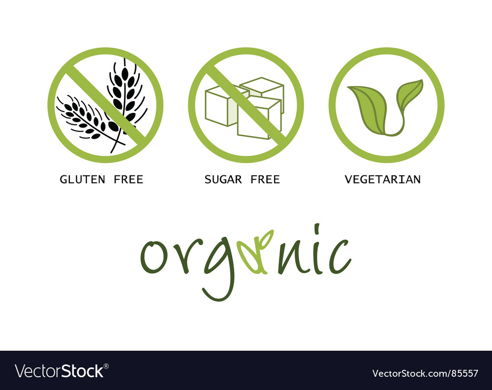 Healthy food symbols vector image