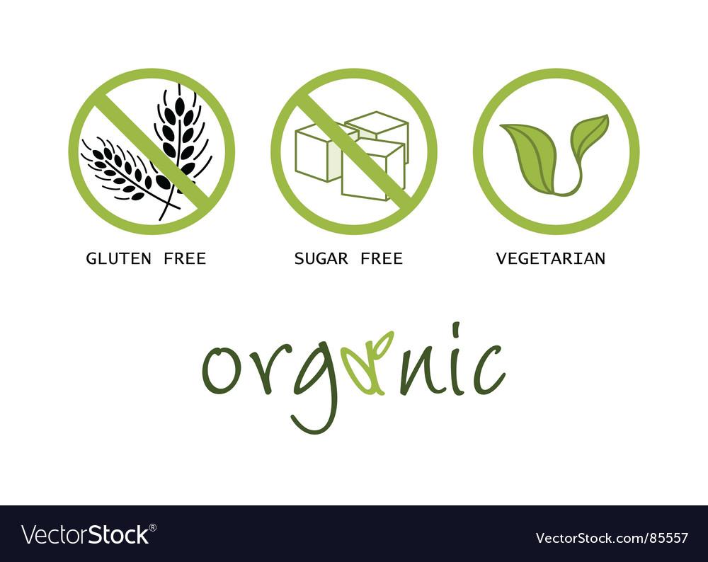 Healthy food symbols vector image